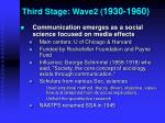 third stage wave2 1930 1960