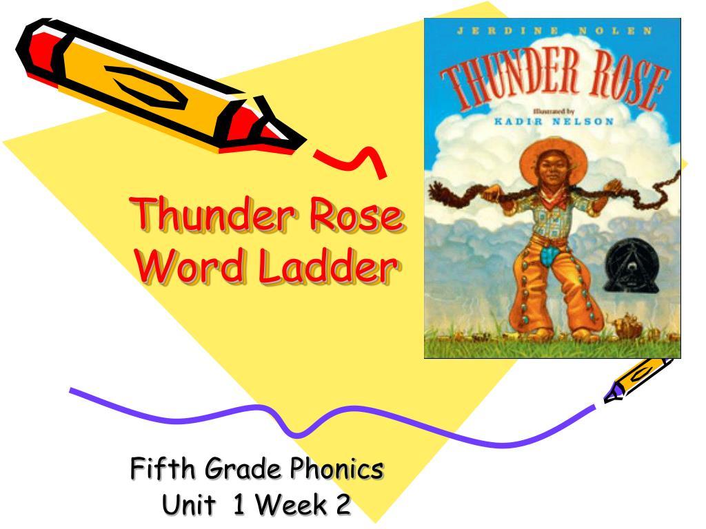 thunder rose word ladder l.