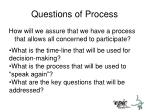 questions of process