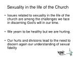 sexuality in the life of the church