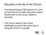 sexuality in the life of the church1