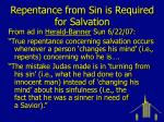 repentance from sin is required for salvation