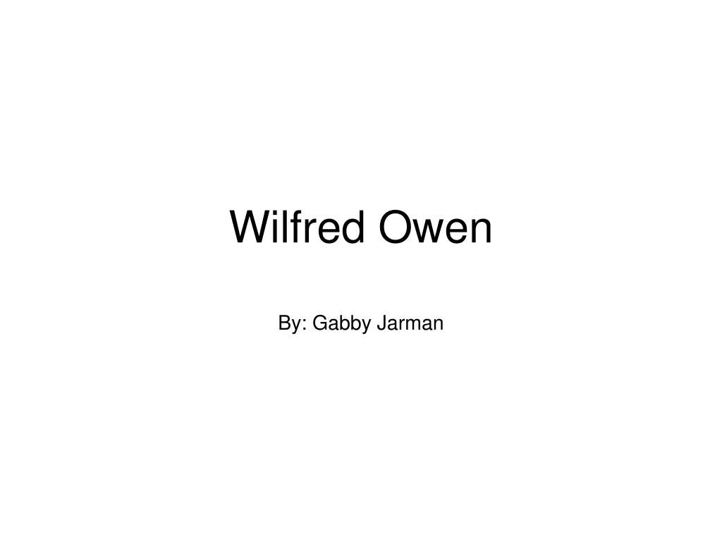 wilfred owen l.