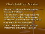 characteristics of marxism4
