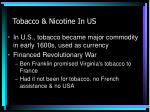 tobacco nicotine in us