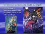 here s some work by marc chagall