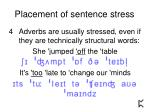 placement of sentence stress10