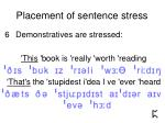 placement of sentence stress12