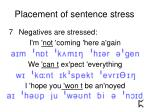 placement of sentence stress13