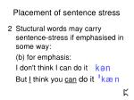 placement of sentence stress8