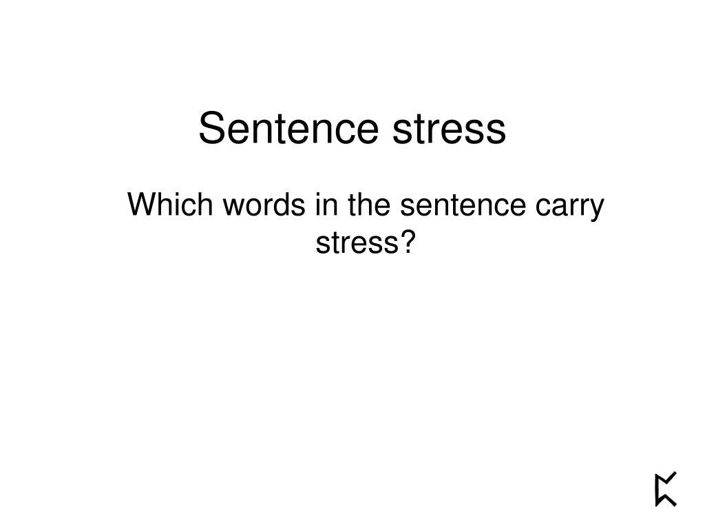 sentence stress l.