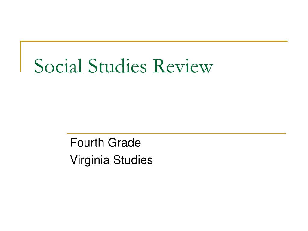 social studies review l.