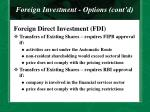 foreign investment options cont d16