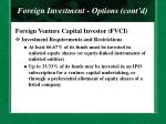 foreign investment options cont d27