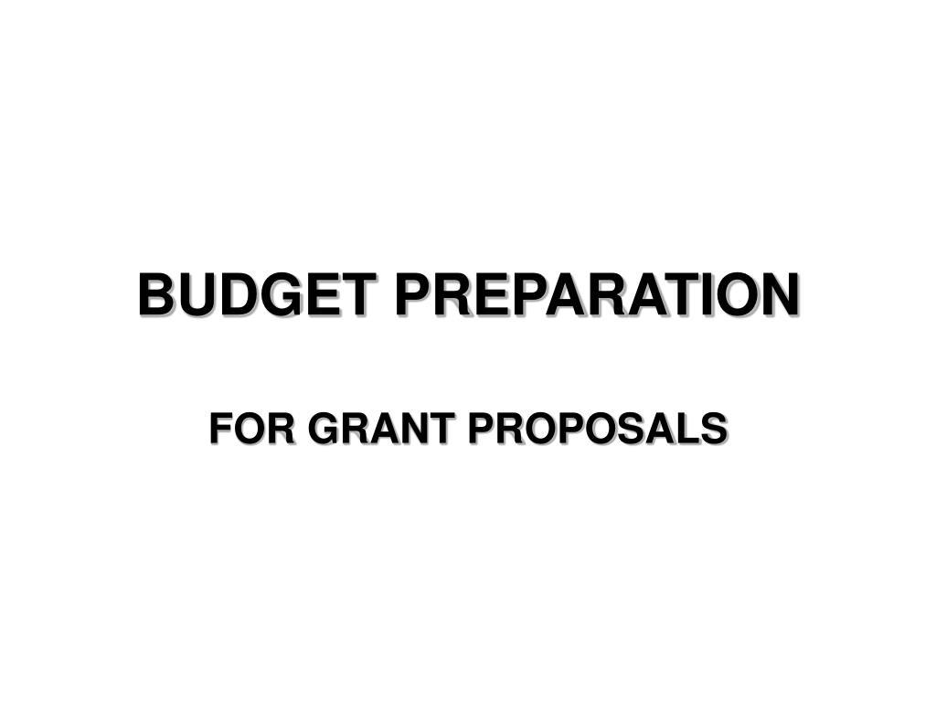 budget preparation l.