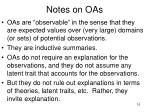 notes on oas