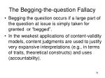 the begging the question fallacy