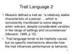 trait language 2