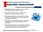 health habits alcohol and health