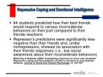repressive coping and emotional intelligence18