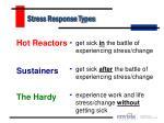 stress response types
