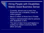 hiring people with disabilities makes good business sense