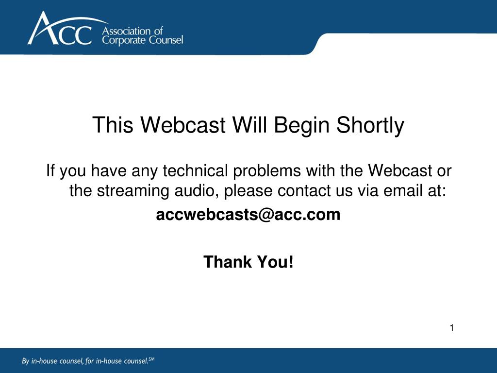 this webcast will begin shortly l.