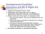 developmental disabilities assistance and bill of rights act