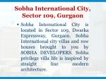 sobha international city sector 109 gurgaon
