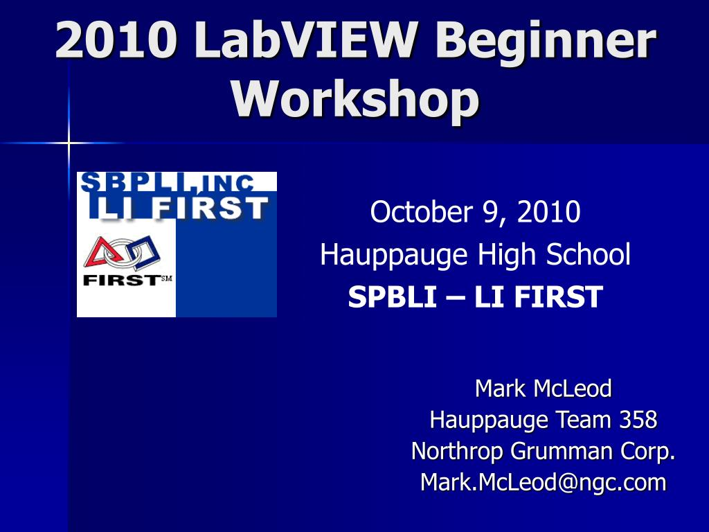 2010 labview beginner workshop l.