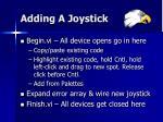 adding a joystick