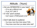 attitude yours