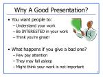 why a good presentation