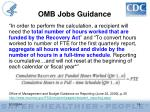 omb jobs guidance
