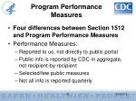 program performance measures30