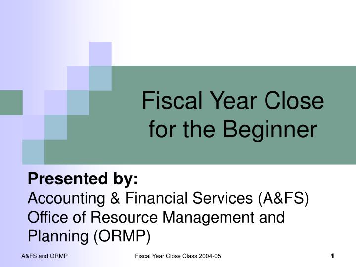 fiscal year close for the beginner n.