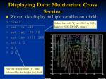 displaying data multivariate cross section