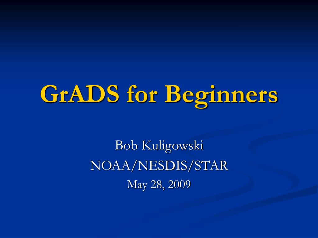 grads for beginners l.