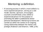 mentoring a definition