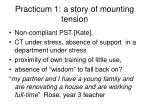 practicum 1 a story of mounting tension