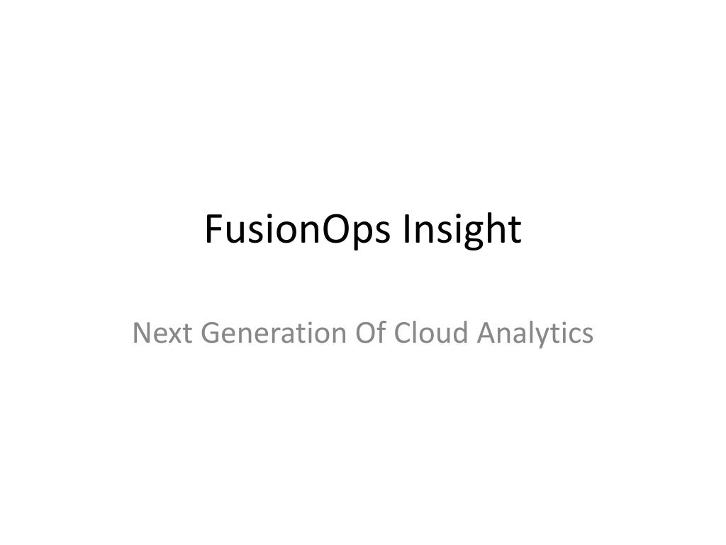 fusionops insight l.