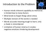 introduction to the problem