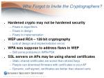 who forgot to invite the cryptographers