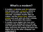 what s a modem