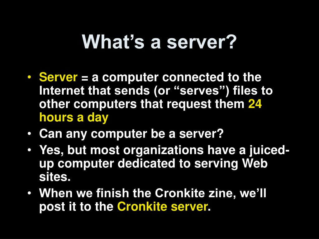 What's a server?