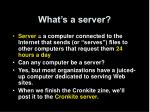 what s a server