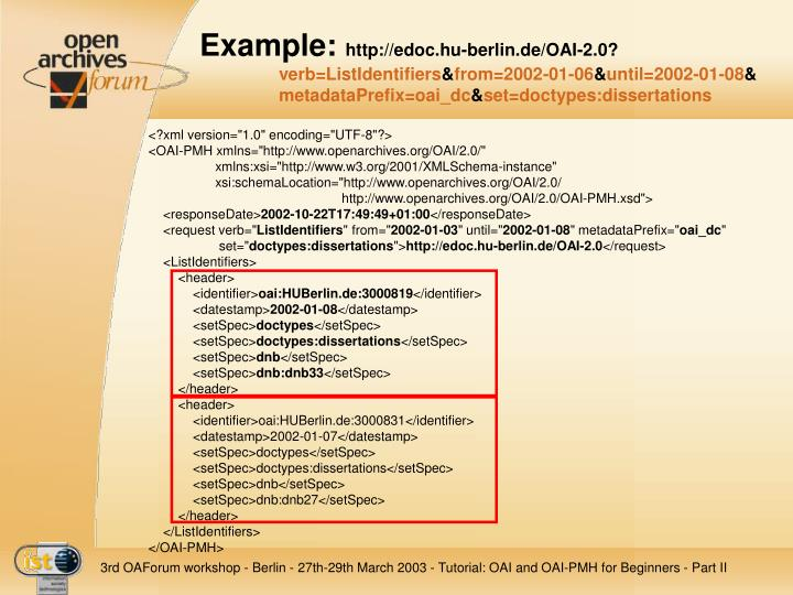 Tutorial OAI and OAI-PMH for Beginners An introduction to the Open Archives Initiative and the Protocol for Metadata Har - PowerPoint PPT Presentation