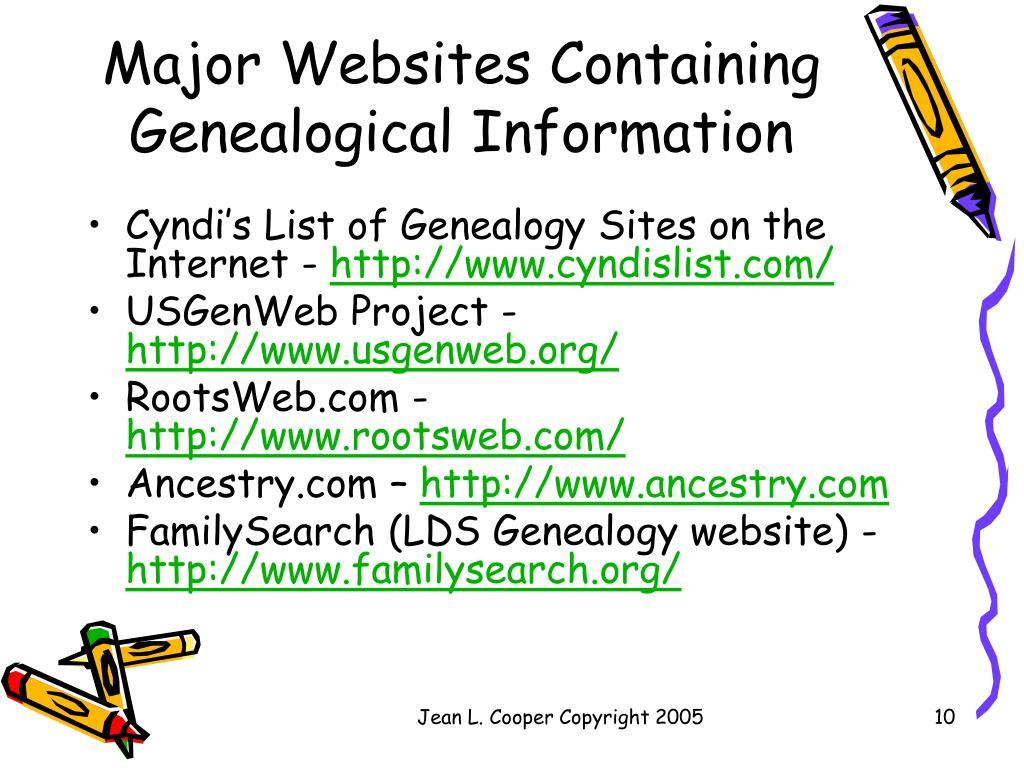 PPT - Beginning Genealogy PowerPoint Presentation - ID:212304