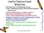 useful instructional websites