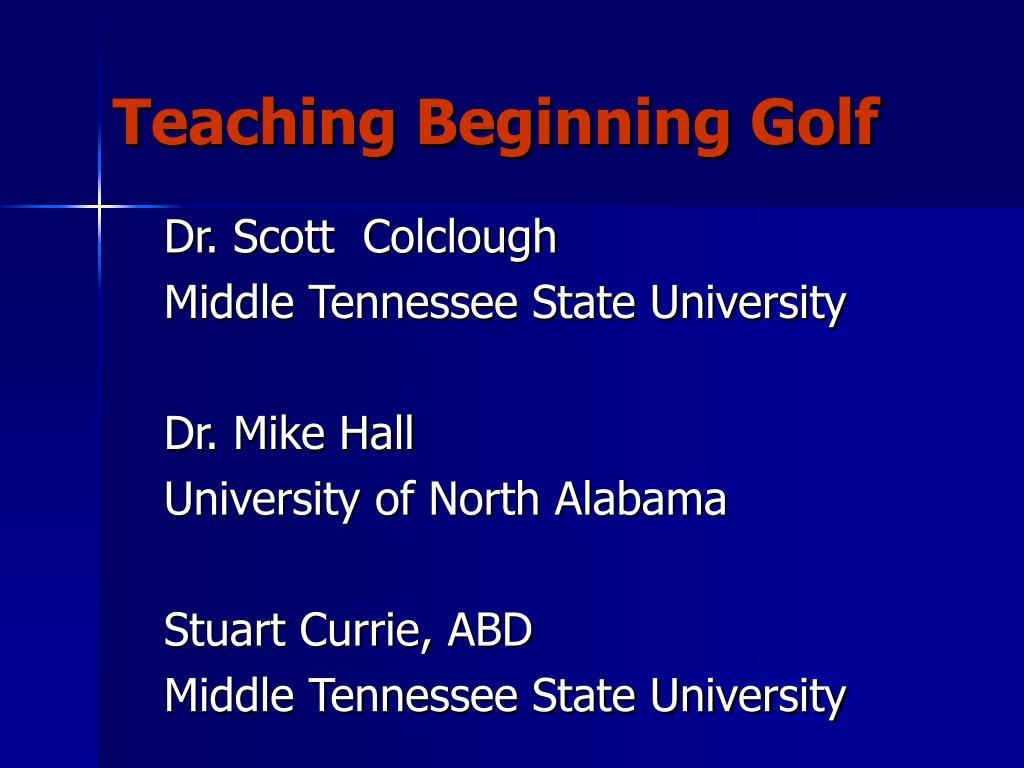 teaching beginning golf l.